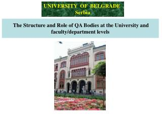 The Structure and Role of QA Bodies at the University and faculty/department levels