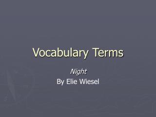Vocabulary Terms