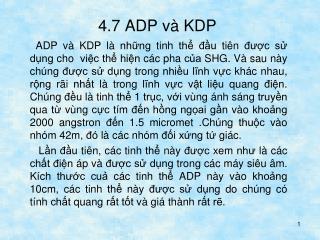 4.7 ADP và KDP
