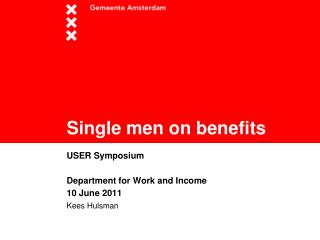 Single men on benefits