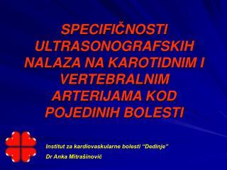 """Institut za kardiovaskularne bolesti """"Dedinje"""" Dr Anka Mitrašinović"""