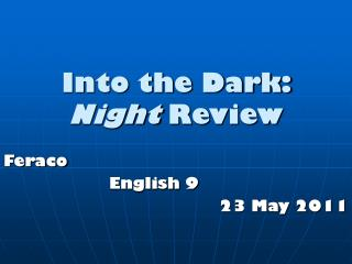 Into the Dark:  Night  Review
