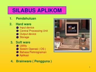 SILABUS APLIKOM