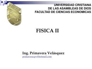 UNIVERSIDAD CRISTIANA  DE LAS ASAMBLEAS DE DIOS FACULTAD DE CIENCIAS ECONOMICAS