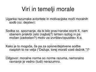 Viri in temelji morale