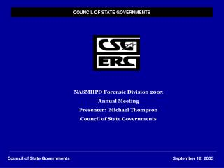 COUNCIL OF STATE GOVERNMENTS