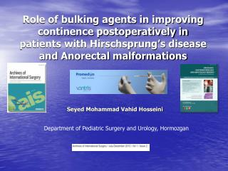 Department of Pediatric Surgery and Urology, Hormozgan