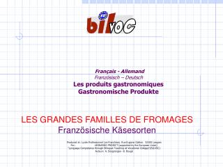 Français - Allemand Französisch – Deutsch Les produits gastronomiques Gastronomische Produkte