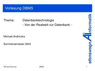 Vorlesung DBMS