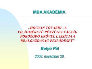 Belyó  Pál 2008 .  november 20.