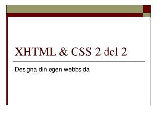 XHTML & CSS 2 del 2