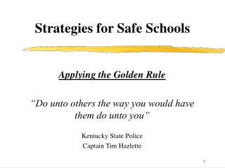 Strategies for Safe Schools