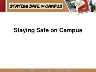 Staying Safe on Campus
