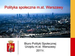 Polityka społeczna m.st. Warszawy