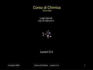 Corso di Chimica  2004-2005