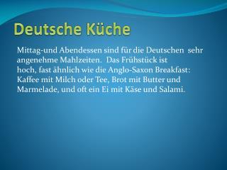 Deutsche  K�che