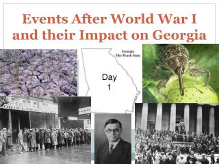 Events After World War I and their Impact on Georgia
