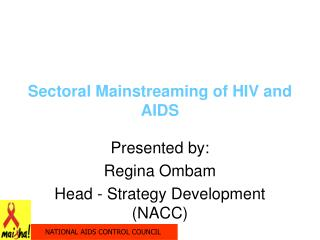 Sectoral Mainstreaming of HIV and AIDS