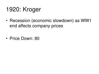 1920: Kroger