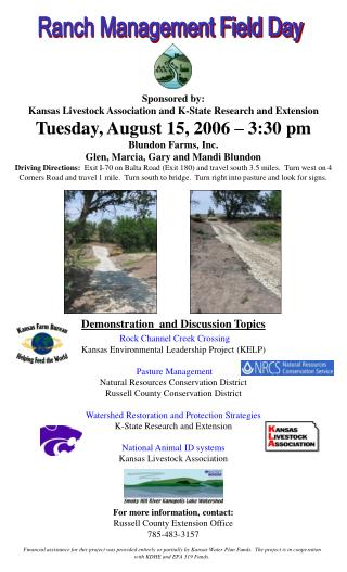 Sponsored by: Kansas Livestock Association and K-State Research and Extension