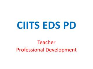 CIITS EDS PD