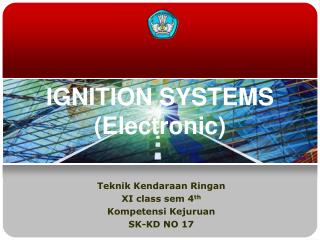 IGNITION SYSTEMS (Electronic)