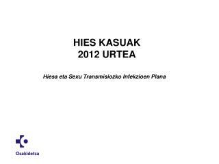 HIES KASUAK 2012 URTEA