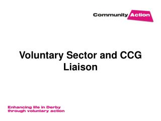 Voluntary Sector and CCG Liaison