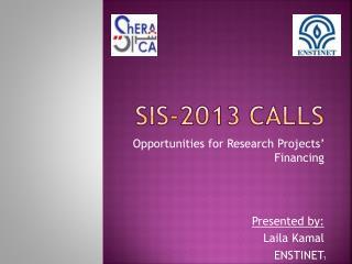 SIS-2013 Calls