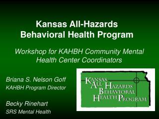 Kansas All-Hazards Behavioral Health Program