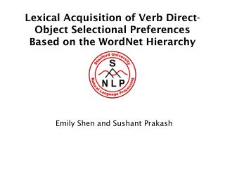 Lexical Acquisition of Verb Direct-Object Selectional Preferences Based on the WordNet Hierarchy