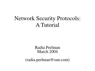 Network Security Protocols: A Tutorial