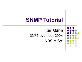 SNMP Tutorial