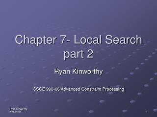 Chapter 7- Local Search  part 2
