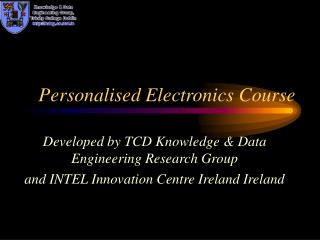 Personalised Electronics Course