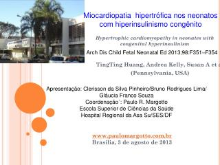 Hypertrophic cardiomyopathy in neonates with  congenital hyperinsulinism