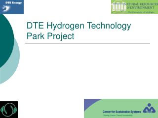 DTE Hydrogen Technology Park Project