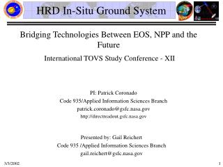 HRD In-Situ Ground System