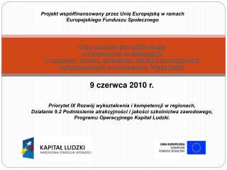Projekt wsp�?finansowany przez Uni? Europejsk? w ramach Europejskiego Funduszu Spo?ecznego