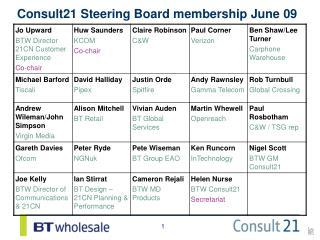 Consult21 Steering Board membership June 09