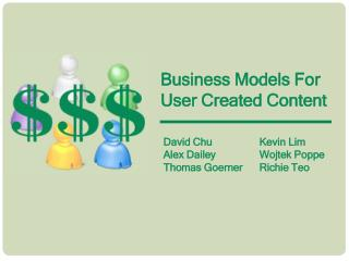 Business Models For User Created Content