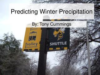 Predicting Winter Precipitation