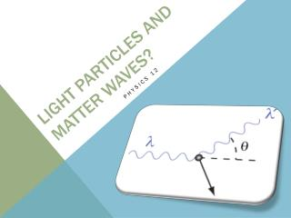 Light particles and matter waves?