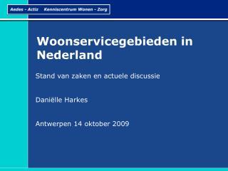 Woonservicegebieden in Nederland