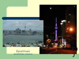 David Foster davidf@kdec.school.nz