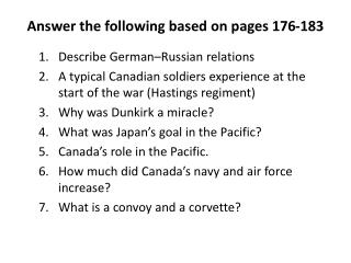 Answer the following based on pages 176-183