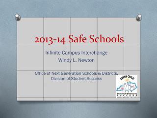 2013-14 Safe Schools