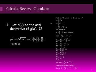 Calculus Review - Calculator