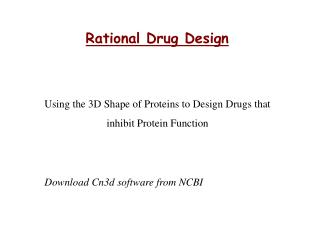 Rational Drug Design