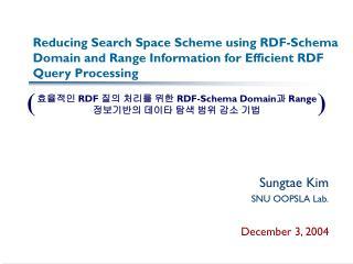 Sungtae Kim SNU OOPSLA Lab. December 3, 2004